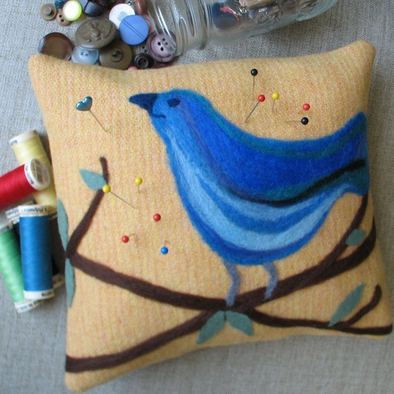 Sewing Room Companion - Bluebird Pincushion
