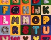 Embroidered ALPHABET LETTERS