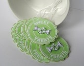 Spring Green Treat Tags - Sweet Treats - Set of 10 Prestrung Gift Tags