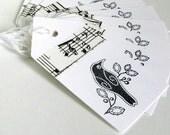 Blackbird Gift Tags - Bird Hang Tags - Crow