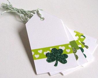 St. Patrick's Day Tags, Shamrock Tags, St. Patrick's Day, Shamrock, St. Patrick's Day Gift Tags, March 17, Gift Tags, Treat Tags, Holiday