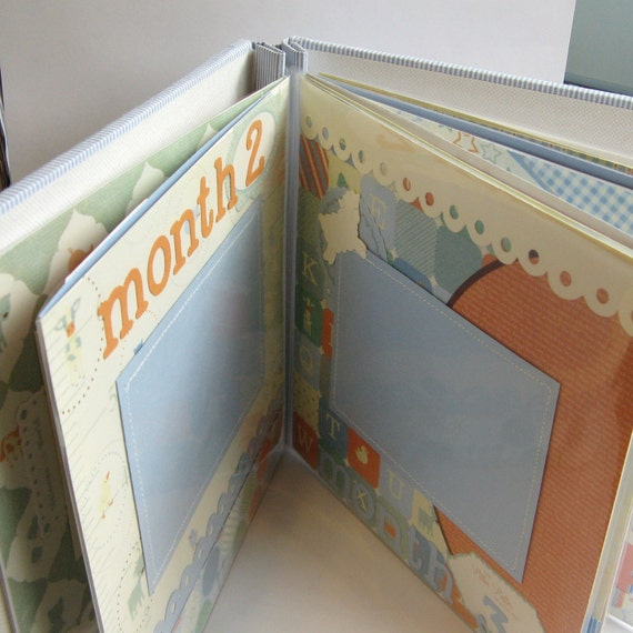 Baby's First Year Scrapbook - Premade Mini Album