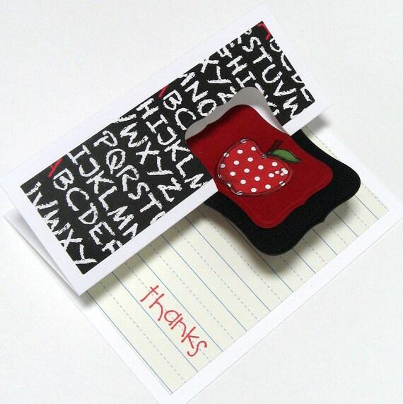 Teacher Thank You Card - Teacher - Thank You - School