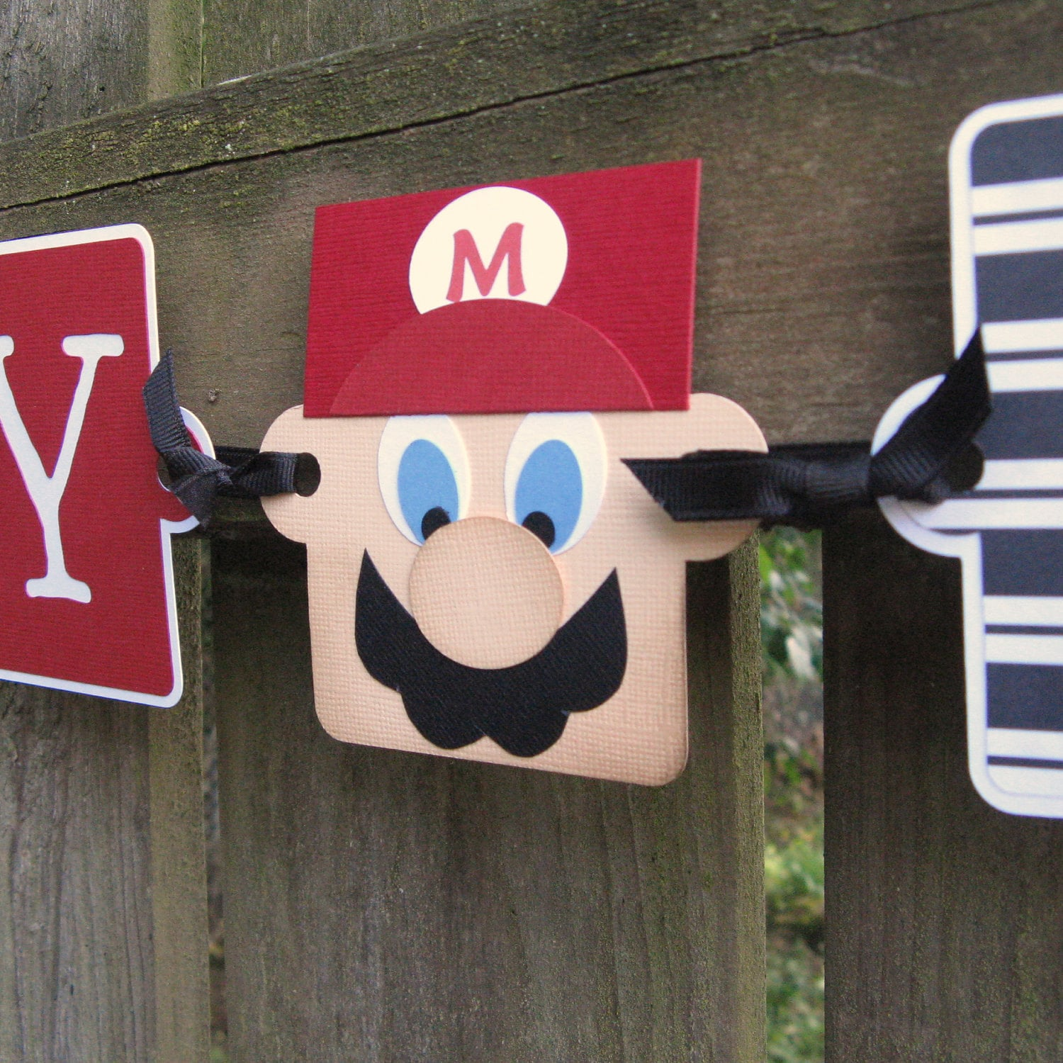 Mario Birthday Banner It's Mario Time Happy By ElvesInTheAttic