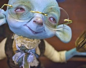 ON RESERVE final pay  - Segismundo Miopo - art doll ooak pure sculpt blue guy