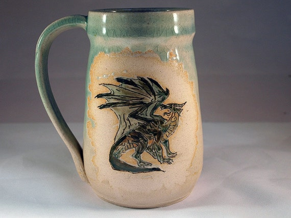 Green Griffin Beer Mug