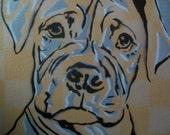 Graffiti Pup Checkered - original canvas painting