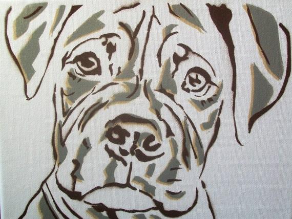 Graffiti Pup - graffiti dog painting on canvas