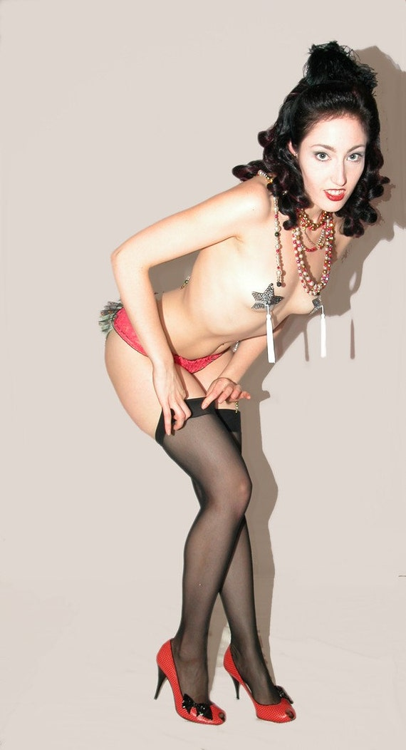 Burlesque Show Stockings Delilah Keepsake Collectible