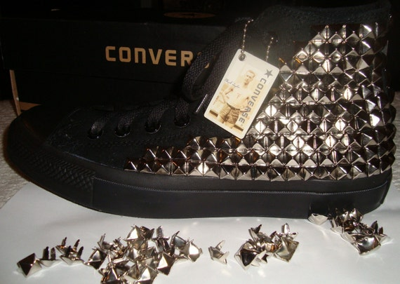 CUSTOM Studded Converse Shoes Made To Order Punk Fashion Rock