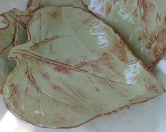Two Sunflower Leaf Plates