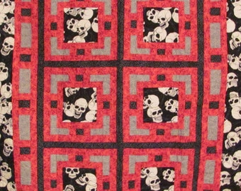 Skulls and Roses Quilt