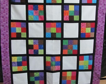 Scrappy Lattice Quilt Top