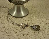 Smokey Gray Teardrop Necklace