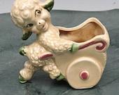 Little lamb planter for baby Mid Century Ceramic