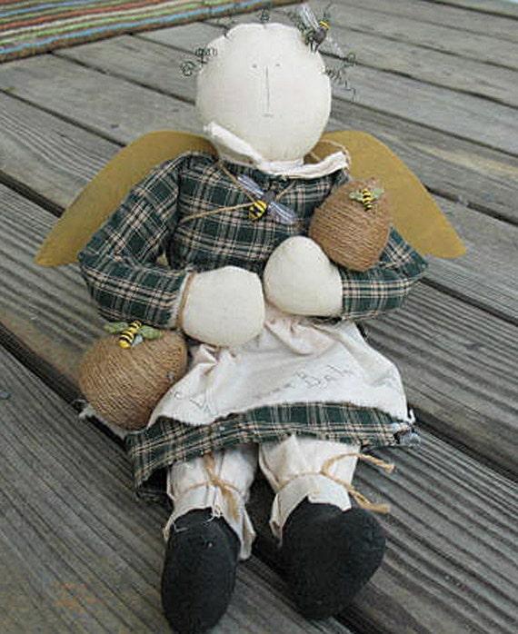 On SALE Now   Vintage Rag Doll Angel Bee Keeper