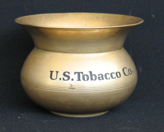 Spittoon Brass U S Tobacco Co