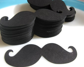 Black Imperial Style Mustache Die Cuts 3 Inch Toppers Photo Prop