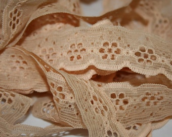 Vintage Tan Lace