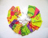 25 - PRESTRUNG -  Cardstock Tags -  Funky Fun Patterns - Free Secondary Shipping