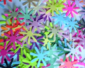 100 - Paper Diecuts Punchies - 8 Petal Starburst Flowers-Snowflakes - Free Secondary Shippinmg