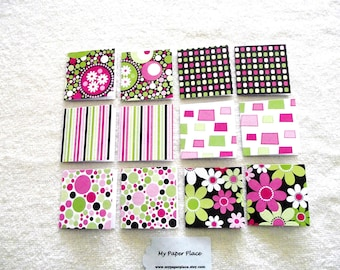 SALE - 36 - Mini Note Cards/Gift Cards - Uptown Flair Collection  of Glittered  Designs-Free Secondary Shipping