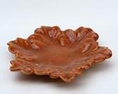 Decorative Leaf Plate in Chili Powder