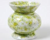 Lemon Lime Short Round Vase