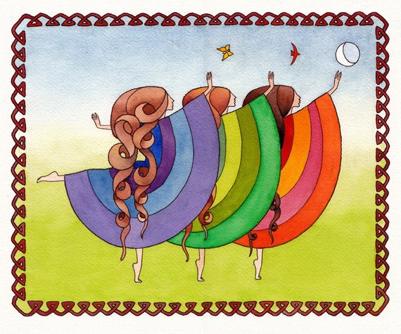 Evening Dance: Original Watercolor