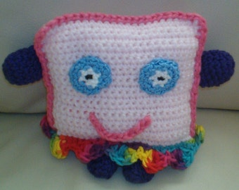 """Ms. Pink , """"Happy Face"""" Pillow"""