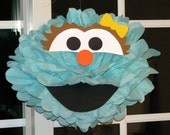 "Aqua Monster tissue paper pompom kit, inspired by ""Rosita"" from Sesame Street"