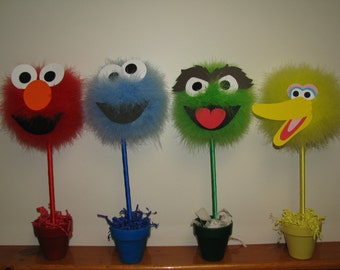 """Topiary, CHOICE OF ONE, monsters inspired by """"Sesame Street"""""""