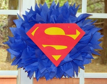 Superhero tissue paper pompom kit