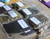 Sampler Pack - Choose three tea blends - Black, Green, Herbal, Rooibos