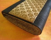 Oh Sarah - Black Gold Clutch - Make great Christmas, Valentine Day, Anniversary, Bridal Shower or Birthday gifts