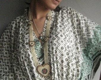 Thinking of Greece Kaftan - Pajamas to live in, beachwear, spa robe..make great Anniversary or Birthday gifts