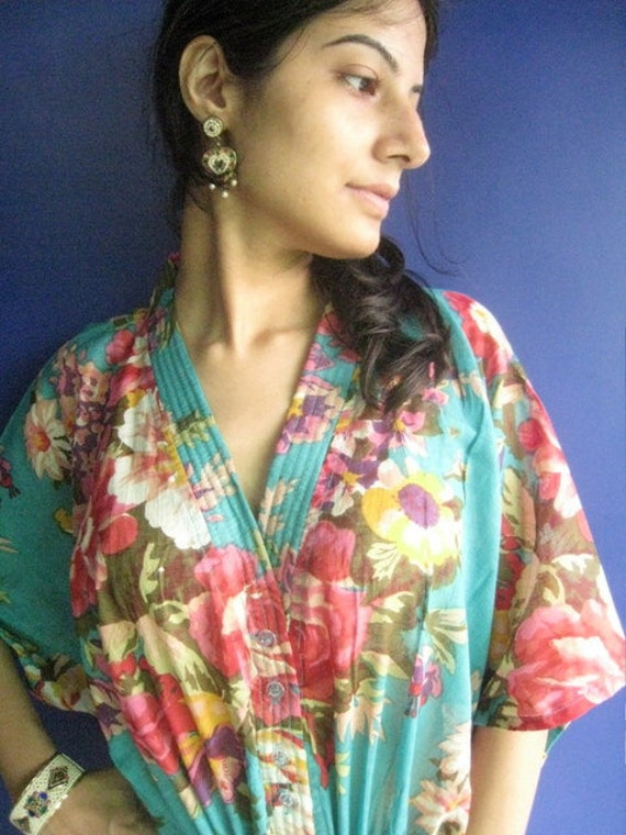 A royal bouquet - Kaftan Dress - Can be used by nursing mums, relaxing, as beachwear and more