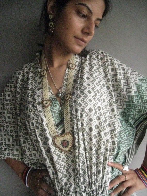 Thinking of Greece Kaftan - Pajamas to live in, beachwear, spa robe..make great Anniversary or Birthday gifts