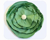 SALE Mint Green Flower Pin Brooch for Women and Girls