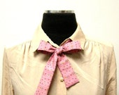 Vintage Pink Floral Bow Tie for Women and Girls by E W McCall - EWMcCall
