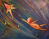 The Little Prince's Star Taxi Painting