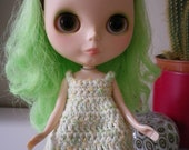 Crochet Blythe Dress in Jelly Bean
