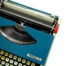 SALE Manual Typewriter Teal Royal Sprite