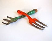 Vintage Garden Tools - Fork and Cultivator - Retro Japan USA