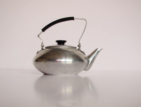 Vintage Japanese Tea or Coffee Pot: Aluminum- Japan- Small- Excellent Condition