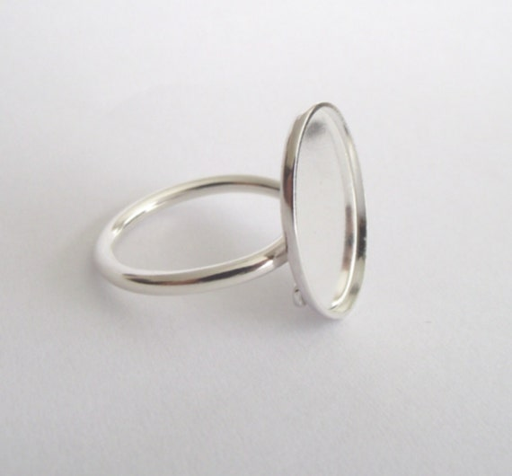 Sterling Silver Cabochon ring blank - freesize  - adjustable - handmade findings