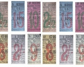 18 Vintage Bus Tickets - from a local bus company in Yorkshire - perfect for scrapbooking and collage