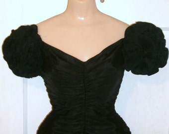Vintage TADASHI Slimming Black Wiggle Party Dress XS 0