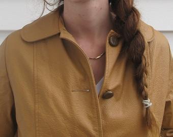 Vintage 60s Mod Vegan Faux Leather Jacket Coat S M 4 6 8