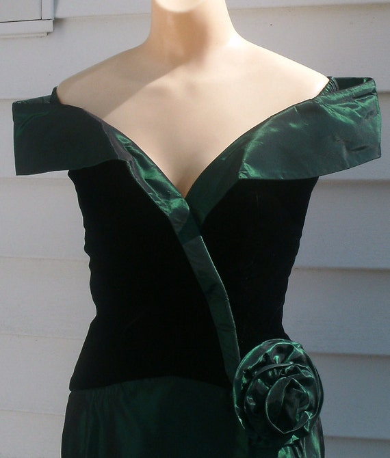 Vintage 1950s Style WIGGLE Party Dress XS 0 2 HourglassOFF SHOULDER Long Gown